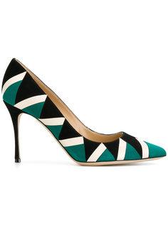 туфли с геометрическим принтом Sergio Rossi