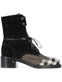 ботинки с панелью в клетку Laurence Dacade