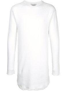 футболка с длинными рукавами в рубчик Unused