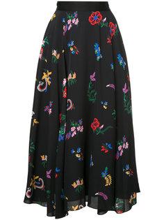 юбка-миди с цветочным принтом Novis