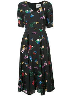 расклешенное платье с цветочным принтом Novis
