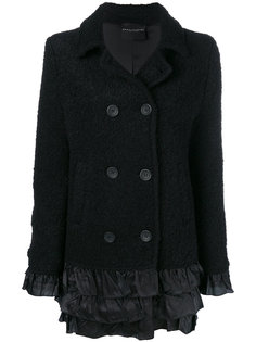 двубортная куртка с меховой отделкой  Erika Cavallini