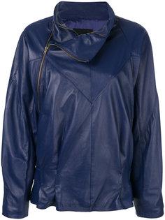 куртка с асимметричной молнией  Erika Cavallini