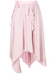 асимметричная юбка с драпировкой Erika Cavallini