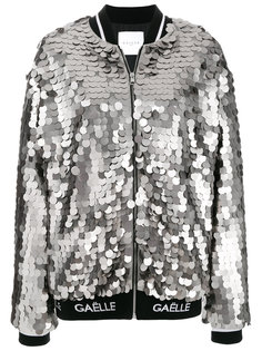 куртка-бомбер с пайетками  Gaelle Bonheur