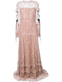 платье с цветочной вышивкой  Piccione.Piccione