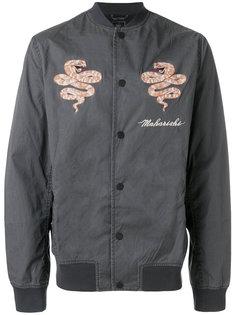 куртка-бомбер  с вышивкой Maharishi