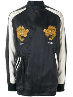 куртка с вышивкой и запахом Maharishi