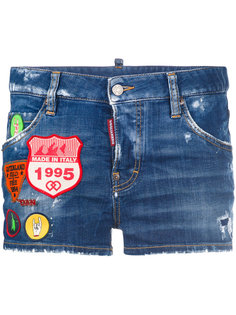 patch denim shorts Dsquared2