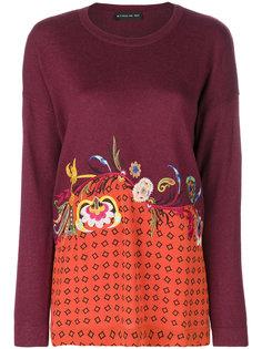 свитер с цветочной вышивкой Etro
