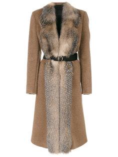 пальто с поясом Blancha