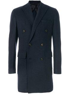 двубортное пальто Hackett