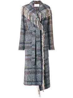 длинное пальто с бахромой Tonello