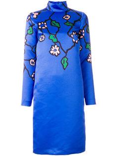 платье с длинными рукавами и цветочным принтом  Marni