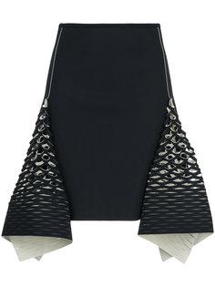 мини-юбка Bias с перфорированными деталями Dion Lee