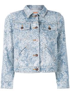 джинсовая куртка с отделкой из кристаллов Marc Jacobs