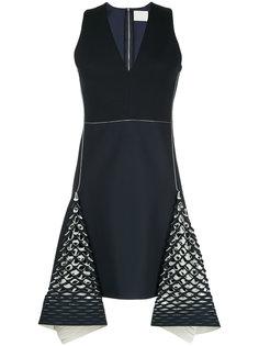 платье-мини Bias с перфорированными деталями Dion Lee