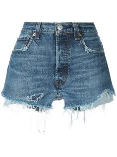 джинсовые шорты с бахромой Icons