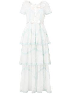длинное платье с бантом Alessandra Rich