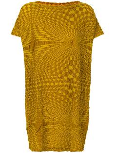 текстурированная платье-футболка Issey Miyake Cauliflower
