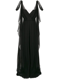 многослойное платье без рукавов  Alberta Ferretti