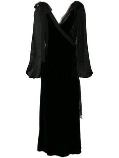 платье с запахом с V-образной горловиной Alberta Ferretti