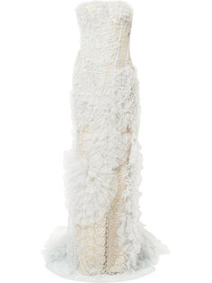 кружевное платье с рюшами Ermanno Scervino