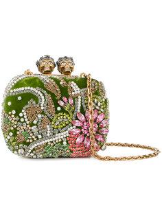 расшитый кристаллами клатч Queen and King Alexander McQueen