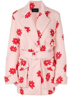 пальто с цветочным принтом Simone Rocha