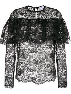 прозрачная кружевная блузка с оборками Gaelle Bonheur