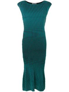 платье в полоску Issey Miyake