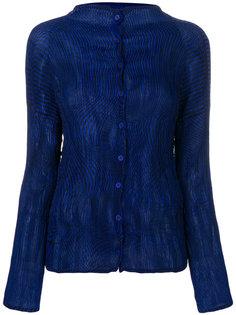 плиссированная блузка на пуговицах  Issey Miyake