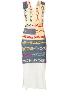 асимметричное платье-бандо Eckhaus Latta