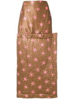 юбка макси с цветочным узором Eckhaus Latta