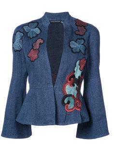 пиджак с баской и вышивкой Natori