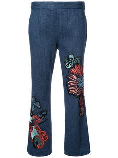 расклешенные укороченные джинсы Natori