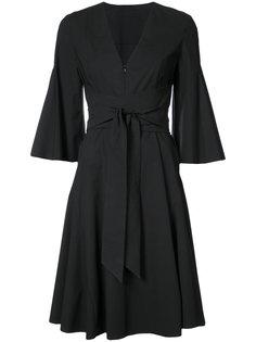 платье с запахом и поясом Natori