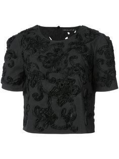 футболка с цветочным 3D-узором Natori