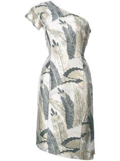 коктейльное платье на одно плечо Natori