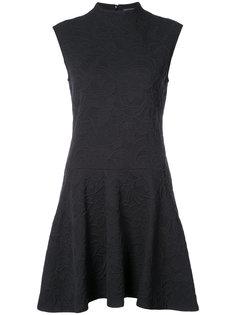 платье с высокой горловиной и оборками Natori