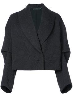 укороченный пиджак с воротником-шалькой  Natori