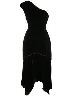 асимметричное платье на одно плечо Natori