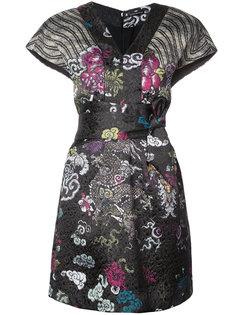 платье с комбинированным узором Natori