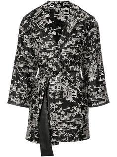 пиджак с вышивкой пагод Natori