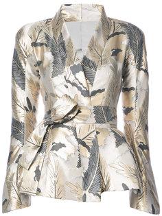 пиджак с запахом и баской Natori