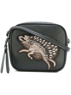 мини сумка через плечо с вышивкой Alexander McQueen