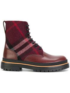 клетчатые ботинки Burberry