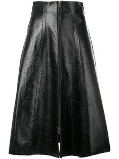 юбка-миди на молнии спереди Fendi