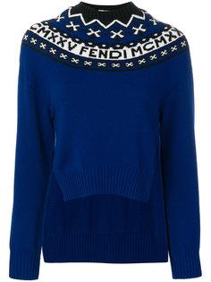 декорированный свитер Fendi