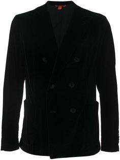 бархатное двубортное пальто Barena